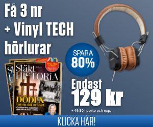 Släkthistoria + Vinyl TECH hörlurar