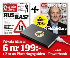 Prenumerationpå tidningen Privata Affärer!